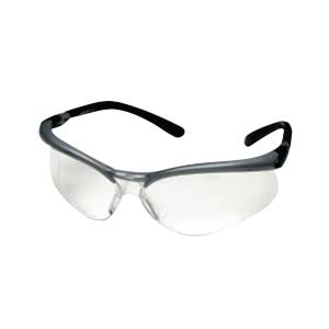 3M BX SAFETY GLASSES 11380 GREY/BLACK FRAME CLEAR AF LENS