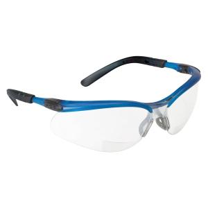 3M BX SAFETY GLASSES 11471 OCEAN BLUE FRAME CLEAR AF LENS
