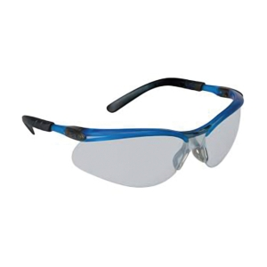 3M BX SAFETY GLASSES 11525 OCEAN BLUE FRAME I/OGREY AF LENS