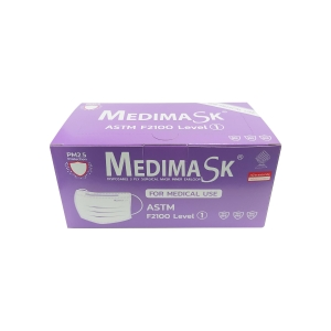 MEDIMASK FACE MASK 3 PLY VIOLET PACK OF 50