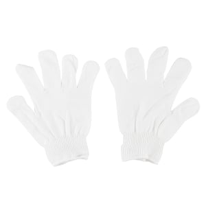 MICROTEX ECO GLOVES KNITTED PAIR WHITE