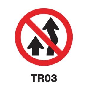 ป้ายจราจร TR03 อลูมิเนียม 60 เซนติเมตร