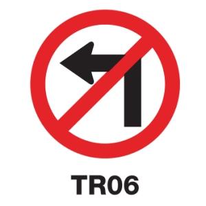ป้ายจราจร TR06 อลูมิเนียม 45 เซนติเมตร