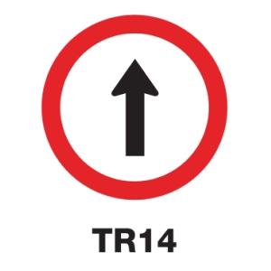 TR14 REGULATORY SIGN ALUMINIUM 45 CENTIMETRES