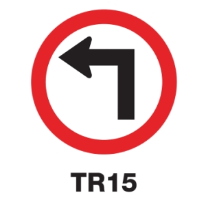 TR15 REGULATORY SIGN ALUMINIUM 45 CENTIMETRES