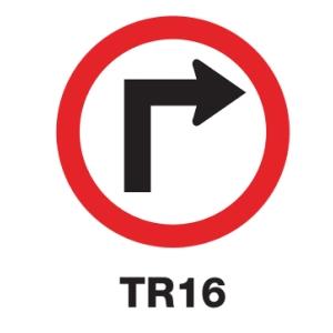 ป้ายจราจร TR16 อลูมิเนียม 60 เซนติเมตร