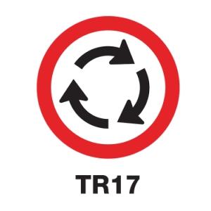 TR17 REGULATORY SIGN ALUMINIUM 45 CENTIMETRES
