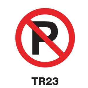 TR23 REGULATORY SIGN ALUMINIUM 45 CENTIMETRES