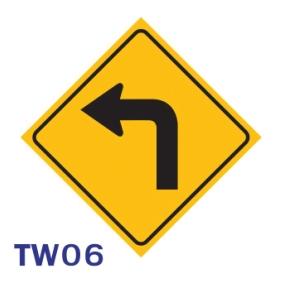 TW06 REGULATORY SIGN ALUMINIUM 45x45 CENTIMETRES