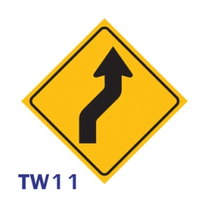 TW11 REGULATORY SIGN ALUMINIUM 45x45 CENTIMETRES