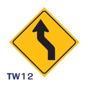TW12 REGULATORY SIGN ALUMINIUM 45x45 CENTIMETRES