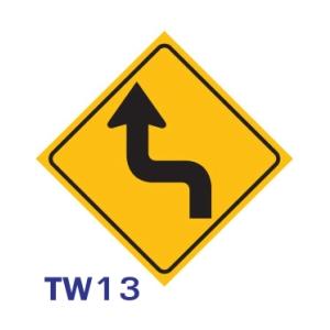 ป้ายจราจร TW13 อลูมิเนียม 45X45 เซนติเมตร
