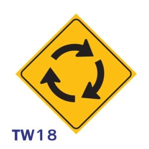 ป้ายจราจร TW18 อลูมิเนียม 45X45 เซนติเมตร