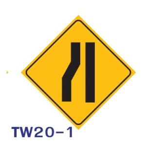 TW20-1 REGULATORY SIGN ALUMINIUM 45x45 CENTIMETRES