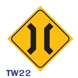 TW22 REGULATORY SIGN ALUMINIUM 45x45 CENTIMETRES