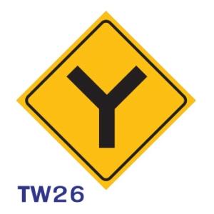 ป้ายจราจร TW26 อลูมิเนียม 45X45 เซนติเมตร