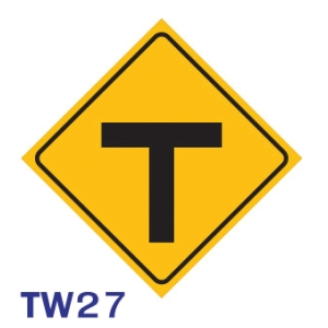 TW27 REGULATORY SIGN ALUMINIUM 45x45 CENTIMETRES