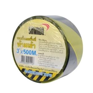 YAMADA เทปกั้นเขตพื้นที่อันตราย 2 นิ้ว X 100 เมตร เหลือง-ดำ