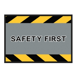 KLEEN-TEX SAFETY SIGN MAT 85X60 CENTIMETRES