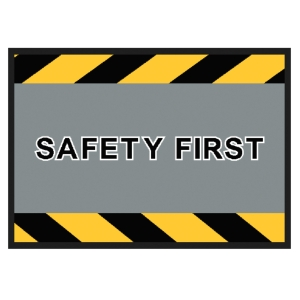 KLEEN-TEX SAFETY SIGN MAT 85X120 CENTIMETRES