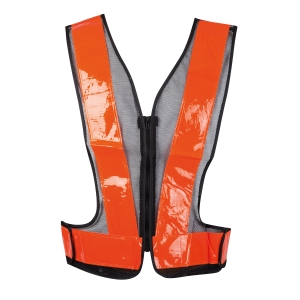 BEST ONE TRAFFIC VEST FRONT ZIP ORANGE
