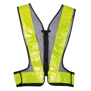 BEST ONE TRAFFIC VEST FRONT ZIPPER GREEN
