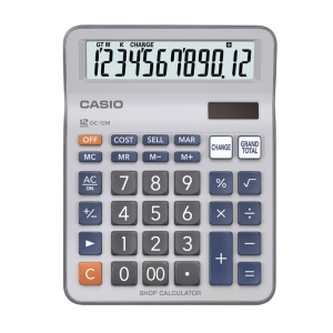 CASIO DC-12M DESKTOP CALCULATOR 12 DIGITS