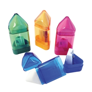 HORSE H-611 PENCIL SHARPENER ASSORTED COLOURS