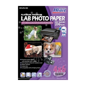 HI-JET PLATINUM PHOTO LAB PAPER A6 270G - PACK OF 100