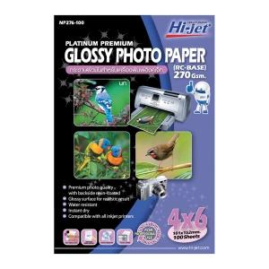 HI-JET PLATINUM PHOTO GLOSSY PAPER A6 270G - PACK OF 100