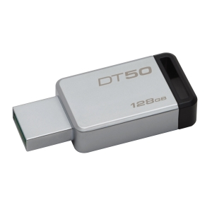 KINGSTON แฟลชไดรฟ์ รุ่น DT50 128 GB สีดำ
