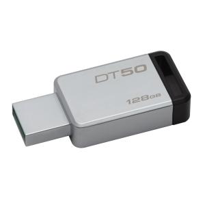 KINGSTON DT50 FLASH DRIVE 128GB BLACK