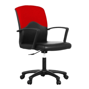 ACURA STRING OFFICE CHAIR PVC/FABRIC BLACK/RED