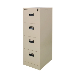 ZINGULAR ZD-744 FILING CABINET 4 DRAWERS CREAM