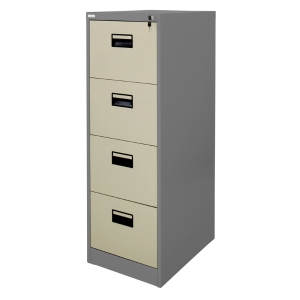 ZINGULAR ZD-744 FILING CABINET 4 DRAWERS GREY