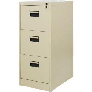 ZINGULAR ZD-743 FILING CABINET 3 DRAWERS CREAM