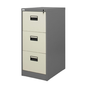 ZINGULAR ZD-743 FILING CABINET 3 DRAWERS GREY