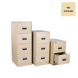 LUCKY D744 STEEL FILING CABINET 4 DRAWERS CREAM