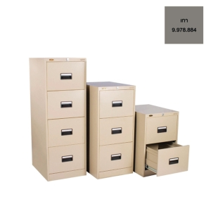 LUCKY D742 STEEL FILING CABINET 2 DRAWERS GREY