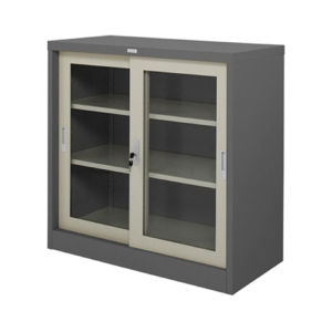 ZINGULAR ZDG-323 STEEL SIDEBOARD WITH GLASS GREY