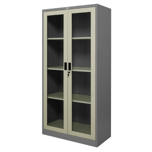 ZINGULAR ZSG-756 STEEL SWING DOOR CABINET WITH GLASS GREY