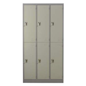 LUCKY LK-6106 STEEL LOCKER 6 DOORS GREY