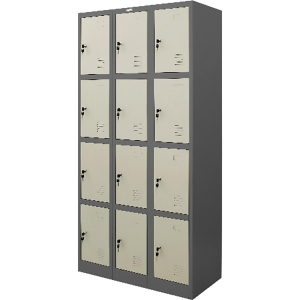 ZINGULAR ZLK-6112 STEEL LOCKER 12 DOORS GREY