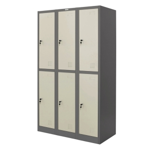 ZINGULAR ZLK-6106 STEEL LOCKER 6 DOORS GREY