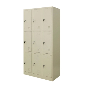 ZINGULAR ZLK-6109 STEEL LOCKER 9 DOORS CREAM