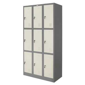 ZINGULAR ZLK-6109 STEEL LOCKER 9 DOORS GREY