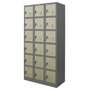 ZINGULAR ZLK-6118 STEEL LOCKER 18 DOORS GREY