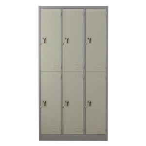 METALPRO MET-6106N STEEL LOCKER 6 DOORS GREY