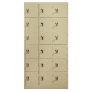 METALPRO MET-6118N STEEL LOCKER 18 DOORS CREAM
