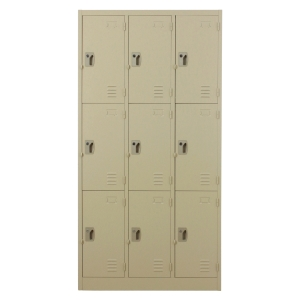 METALPRO MET-6109N STEEL LOCKER 9 DOORS CREAM